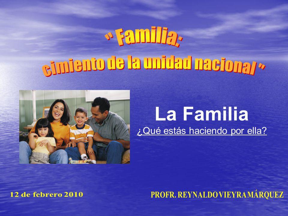 Introducción Introducción La Familia es un pequeño núcleo social basado en el matrimonio.