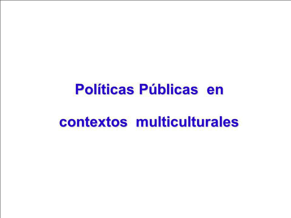 Políticas Públicas en contextos multiculturales