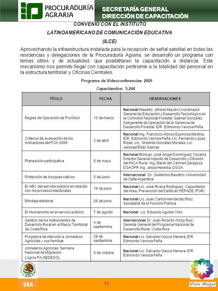 13 SECRETARÍA GENERAL DIRECCIÓN DE CAPACITACIÓN Aprovechando la infraestructura instalada para la recepción de señal satelital en todas las residencia