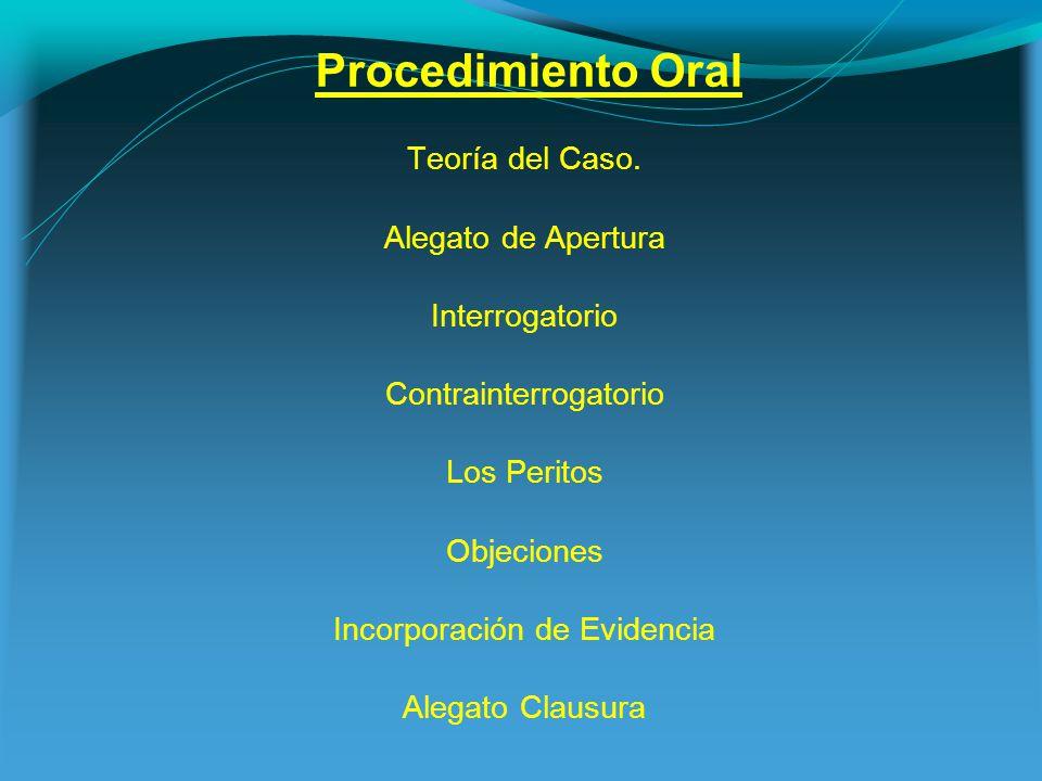 Procedimiento Oral Teoría del Caso.