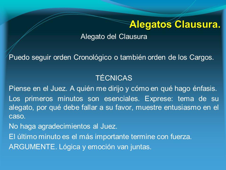 Alegatos Clausura.