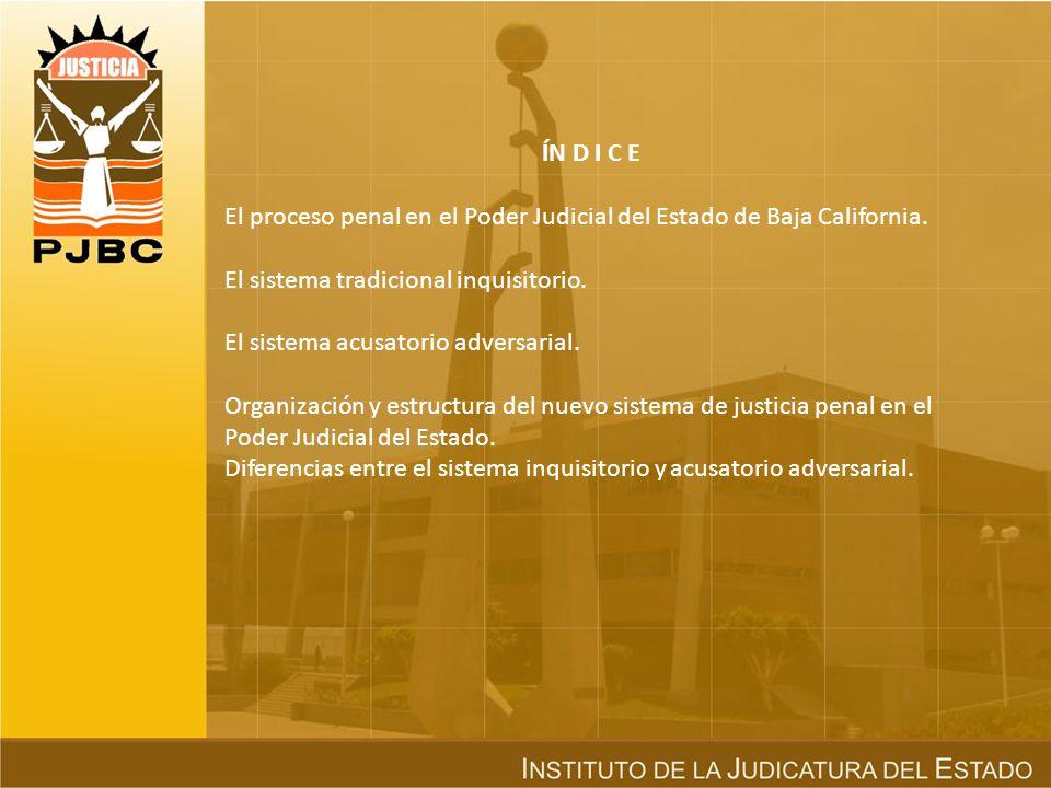 ÍN D I C E El proceso penal en el Poder Judicial del Estado de Baja California.