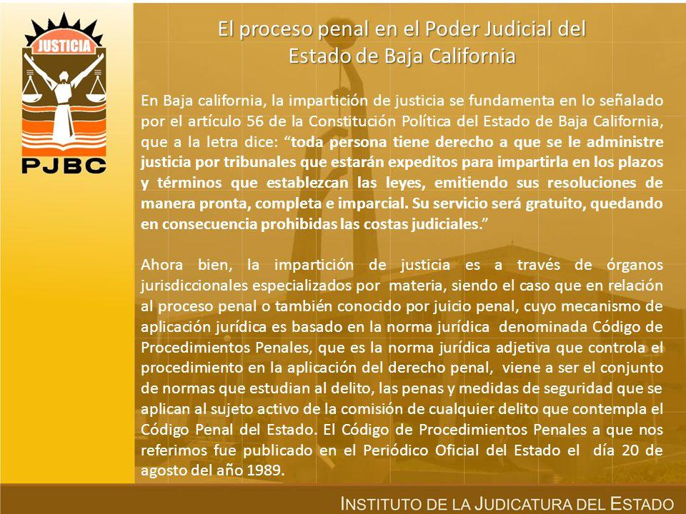 ÍN D I C E El proceso penal en el Poder Judicial del Estado de Baja California. El sistema tradicional inquisitorio. El sistema acusatorio adversarial