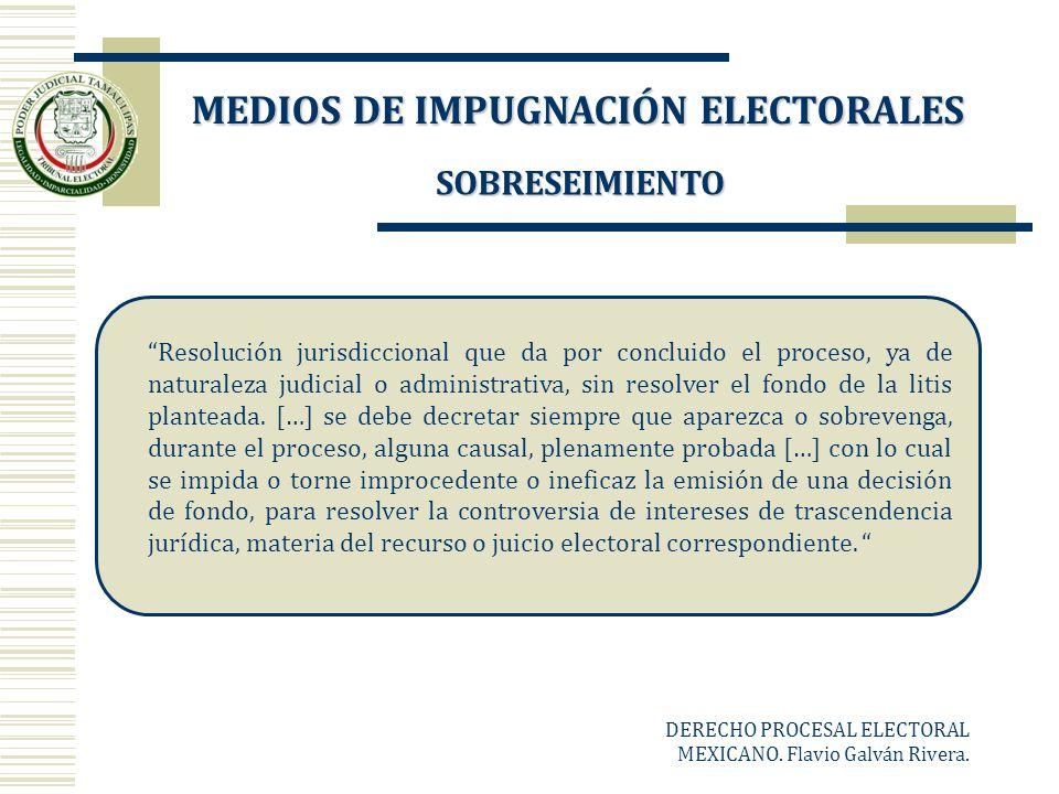SOBRESEIMIENTO Resolución jurisdiccional que da por concluido el proceso, ya de naturaleza judicial o administrativa, sin resolver el fondo de la liti