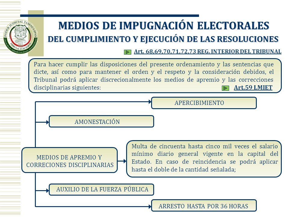 DEL CUMPLIMIENTO Y EJECUCIÓN DE LAS RESOLUCIONES Para hacer cumplir las disposiciones del presente ordenamiento y las sentencias que dicte, así como p