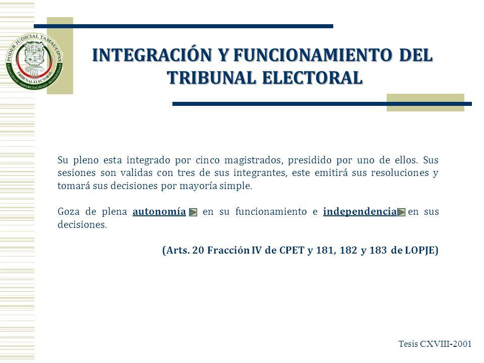 TRIBUNAL ELECTORAL DEL PODER JUDICIAL DEL ESTADO DE TAMAULIPAS MAGDO.