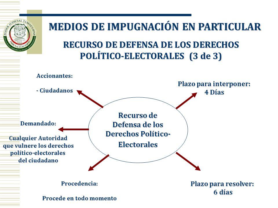 RECURSO DE DEFENSA DE LOS DERECHOS POLÍTICO-ELECTORALES (3 de 3) RECURSO DE DEFENSA DE LOS DERECHOS POLÍTICO-ELECTORALES (3 de 3) Recurso de Defensa d