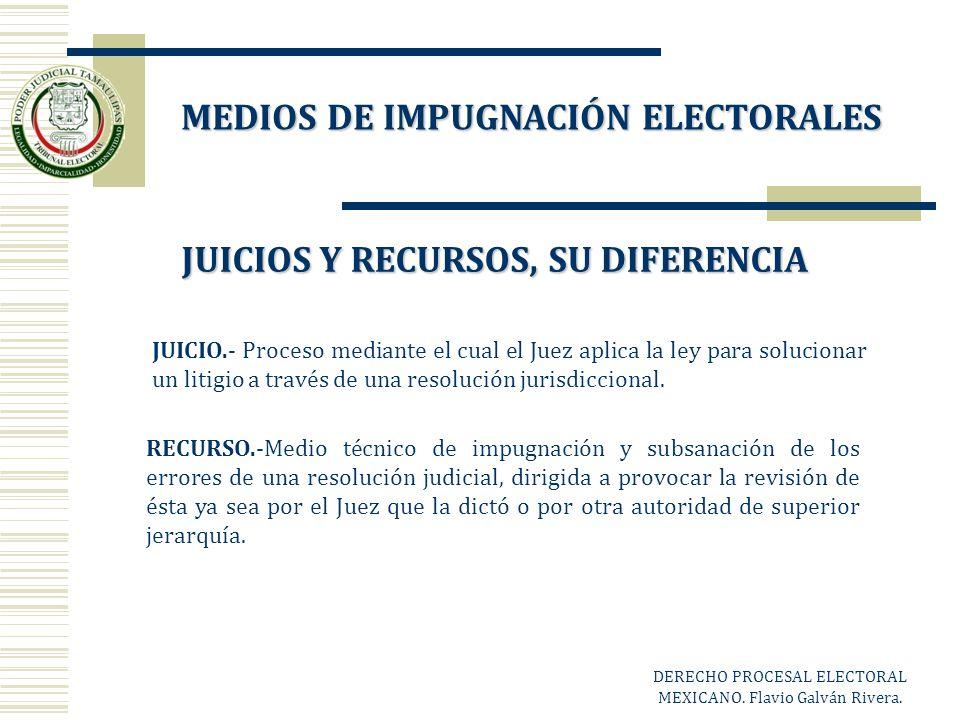 JUICIO.- Proceso mediante el cual el Juez aplica la ley para solucionar un litigio a través de una resolución jurisdiccional. RECURSO.-Medio técnico d