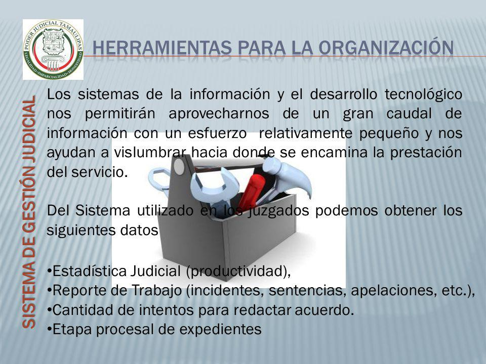 SISTEMA DE GESTIÓN JUDICIAL Los sistemas de la información y el desarrollo tecnológico nos permitirán aprovecharnos de un gran caudal de información c