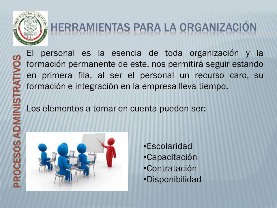 PROCESOS ADMINISTRATIVOS El personal es la esencia de toda organización y la formación permanente de este, nos permitirá seguir estando en primera fil