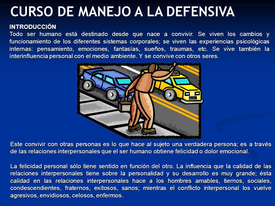 UNIDAD I Es anticipar o suponer lo que otro u otros conductores realizarán y reconocer situaciones potencialmente peligrosas, además de saber que hacer y realizarlo oportunamente.