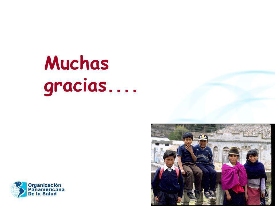 Organización Panamericana De la Salud Muchas gracias....