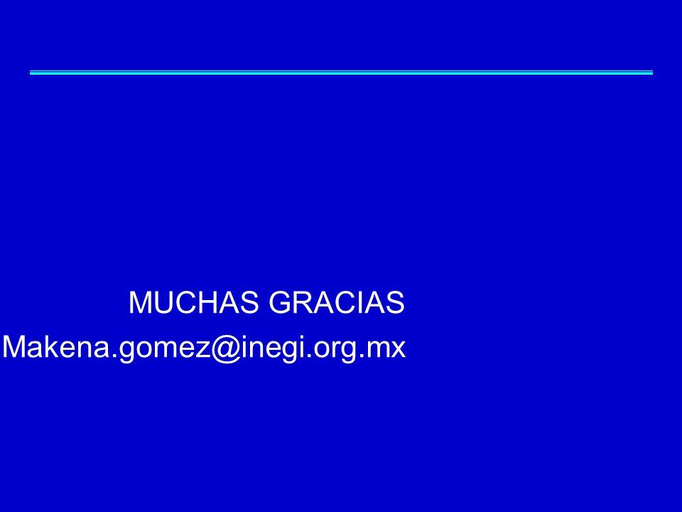 MUCHAS GRACIAS Makena.gomez@inegi.org.mx