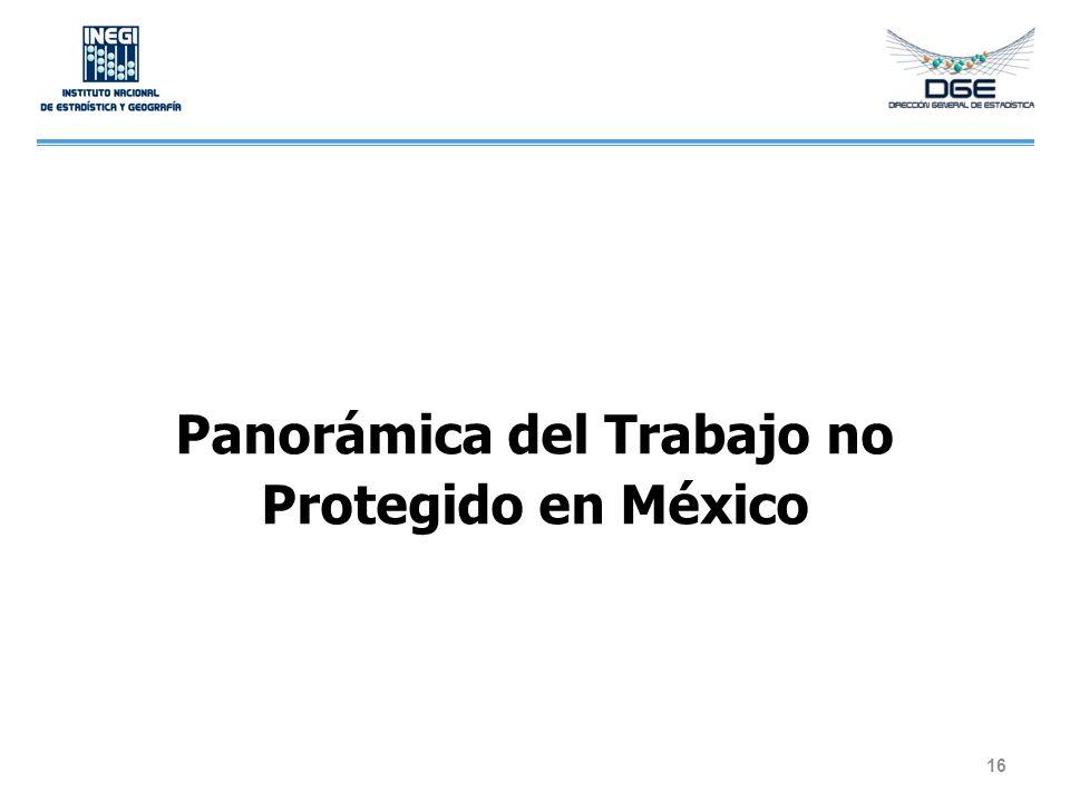 Panorámica del Trabajo no Protegido en México 16