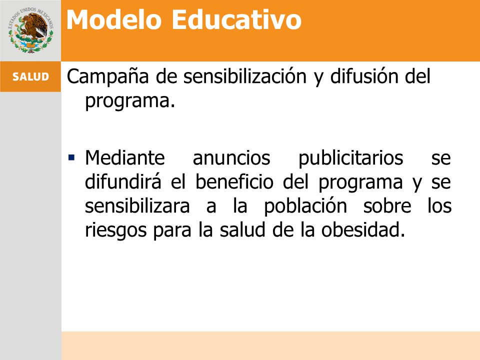 Campaña de sensibilización y difusión del programa. Mediante anuncios publicitarios se difundirá el beneficio del programa y se sensibilizara a la pob