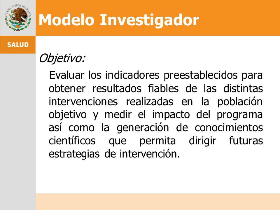 Objetivo: Evaluar los indicadores preestablecidos para obtener resultados fiables de las distintas intervenciones realizadas en la población objetivo
