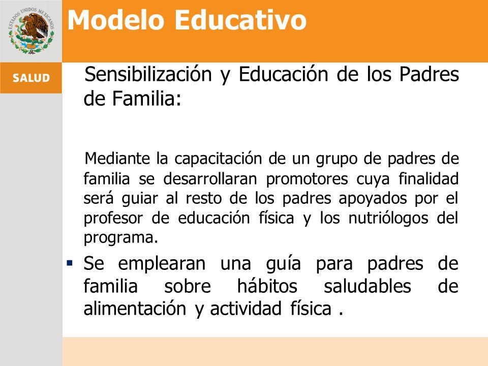 Sensibilización y Educación de los Padres de Familia: Mediante la capacitación de un grupo de padres de familia se desarrollaran promotores cuya final