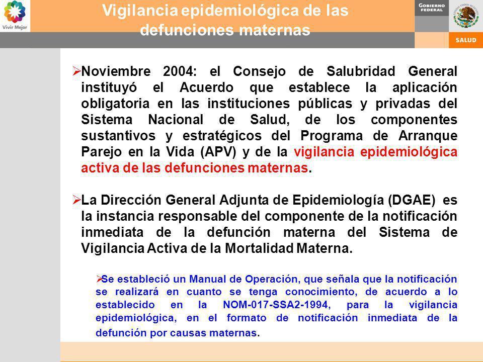 Noviembre 2004: el Consejo de Salubridad General instituyó el Acuerdo que establece la aplicación obligatoria en las instituciones públicas y privadas