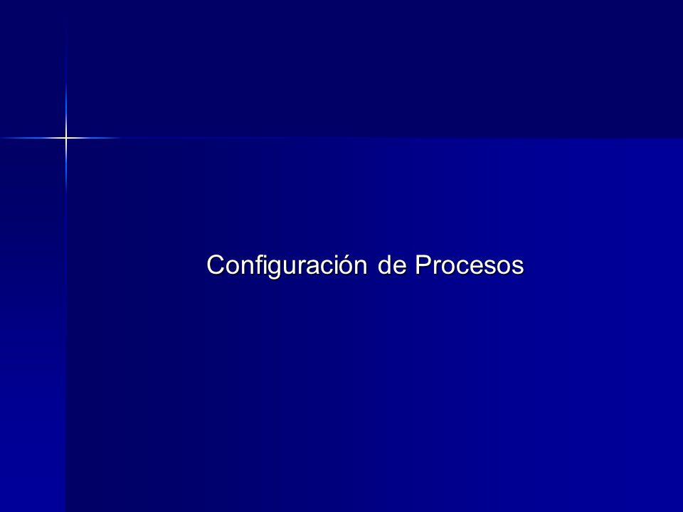 Configuración de Procesos
