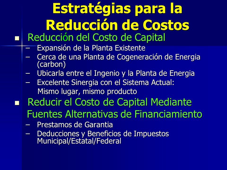 Estratgias para la Reducción de Costos Estratégias para la Reducción de Costos Reducción del Costo de Capital Reducción del Costo de Capital –Expansió