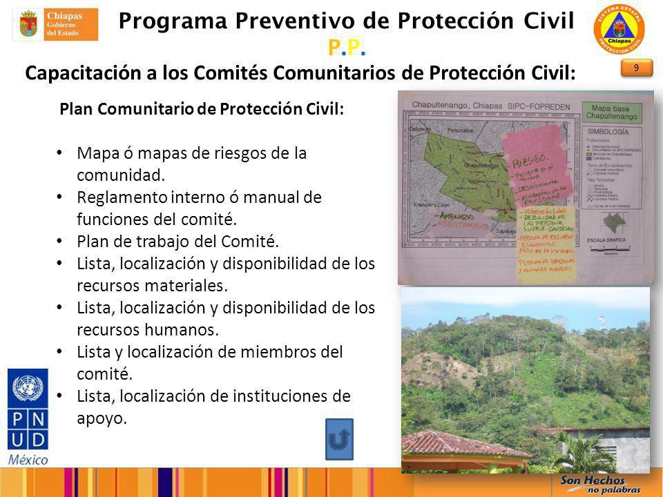 9 Programa Preventivo de Protección Civil P.P.