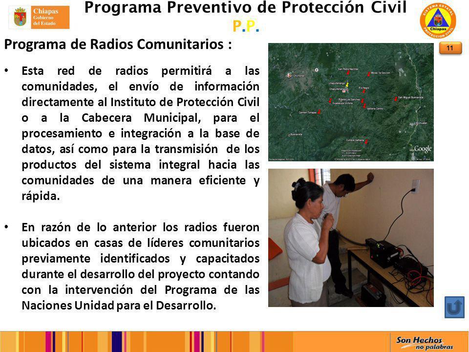 11 Programa Preventivo de Protección Civil P.P.