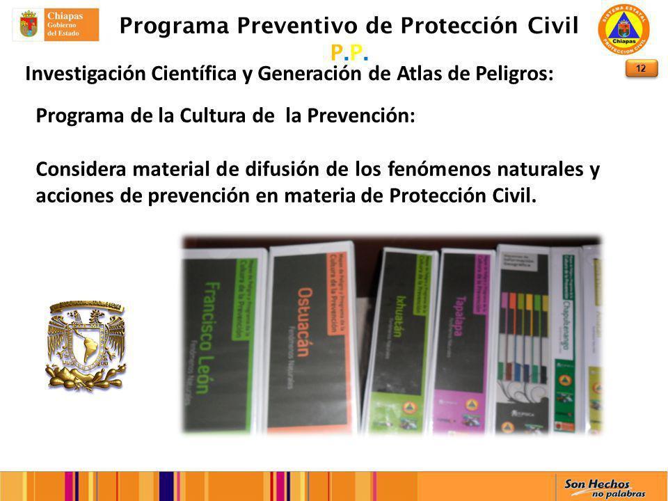 12 Programa Preventivo de Protección Civil P.P.