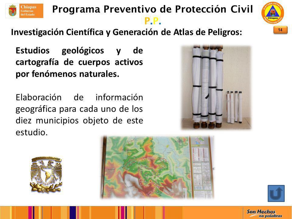 14 Programa Preventivo de Protección Civil P.P.