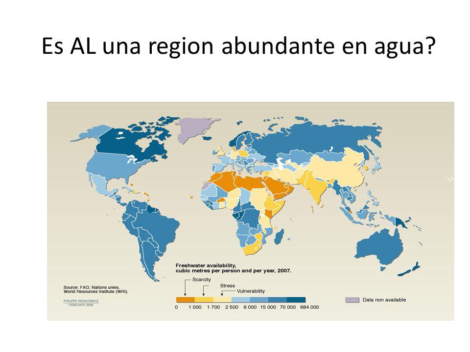 Es AL una region abundante en agua?