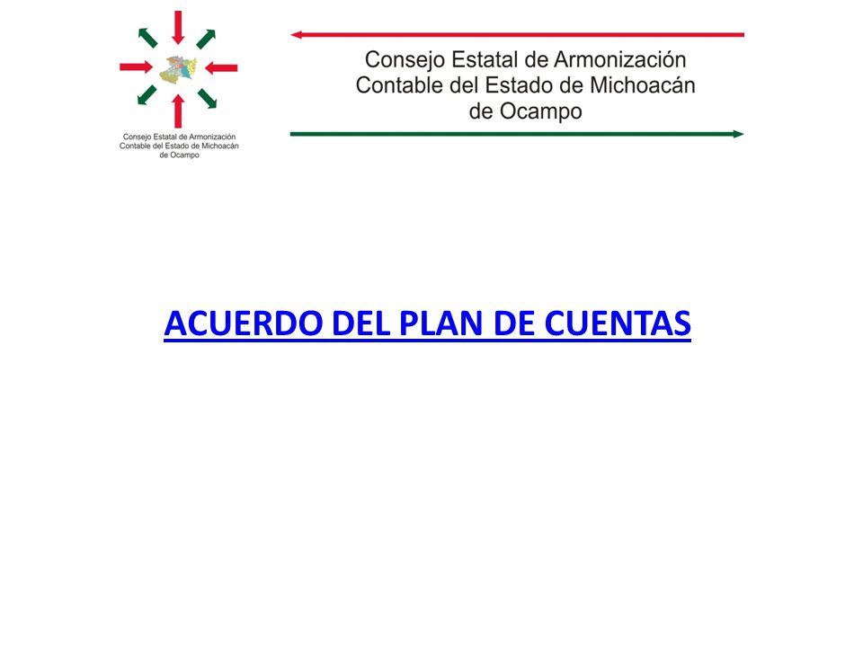 ACUERDO DEL PLAN DE CUENTAS
