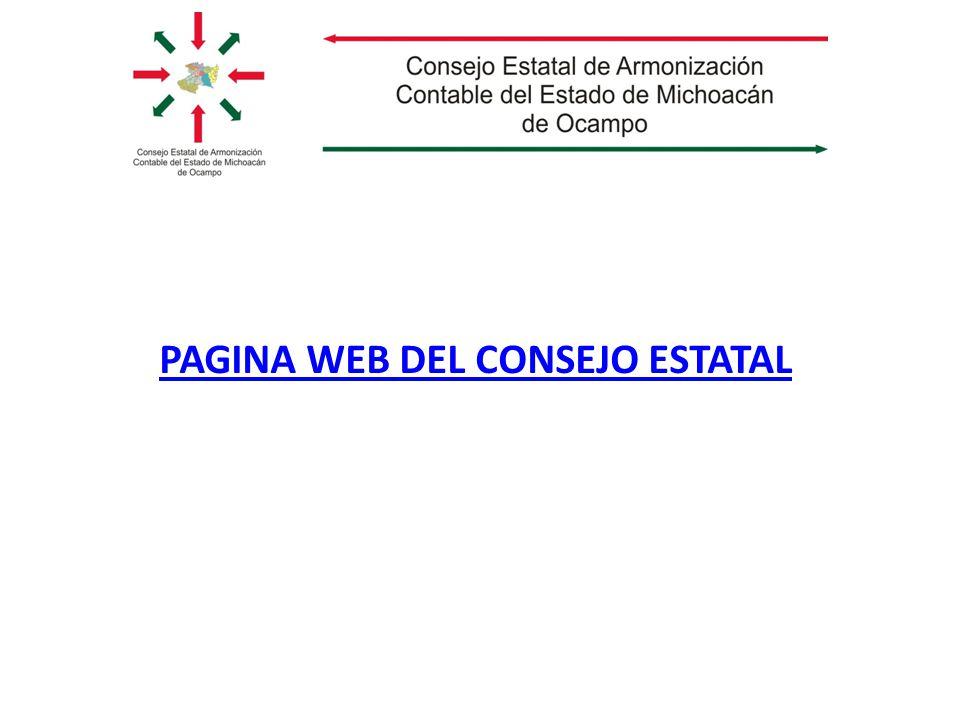 PAGINA WEB DEL CONSEJO ESTATAL