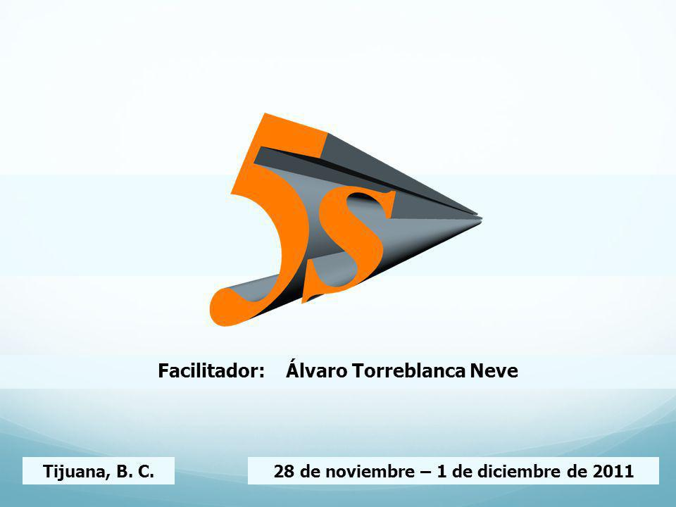 Facilitador: Álvaro Torreblanca Neve Tijuana, B. C.28 de noviembre – 1 de diciembre de 2011