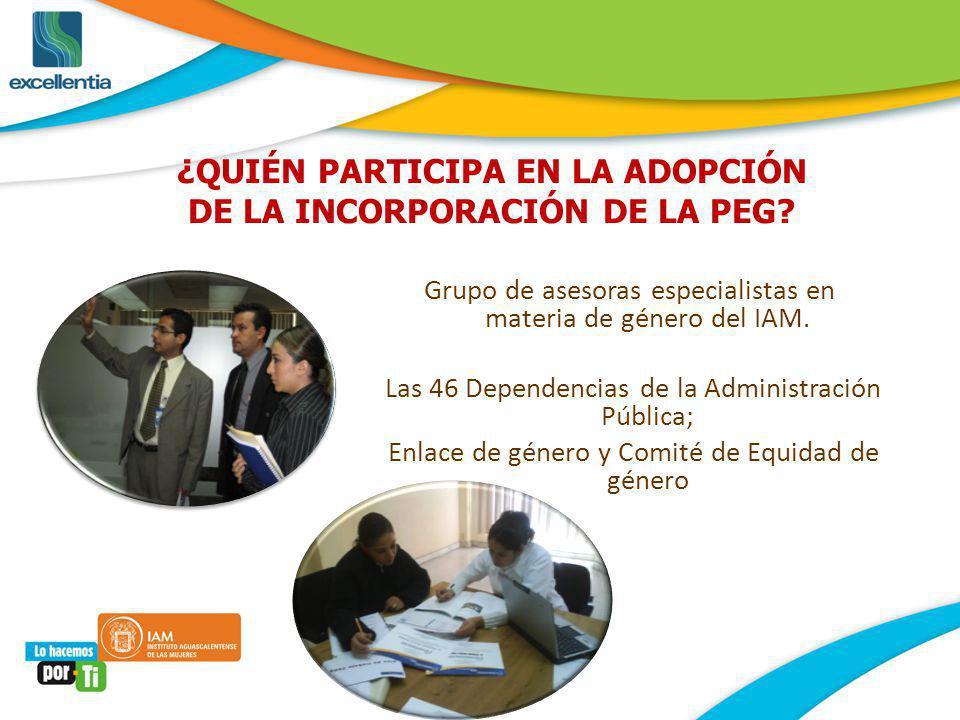 ¿Cuál es la estrategia para lograr la Institucionalización de la perspectiva de Género en la Administración Pública Estatal?