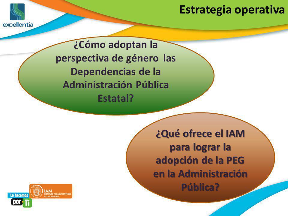 ¿Qué ofrece el IAM para lograr la adopción de la PEG en la Administración Pública? ¿Cómo adoptan la perspectiva de género las Dependencias de la Admin