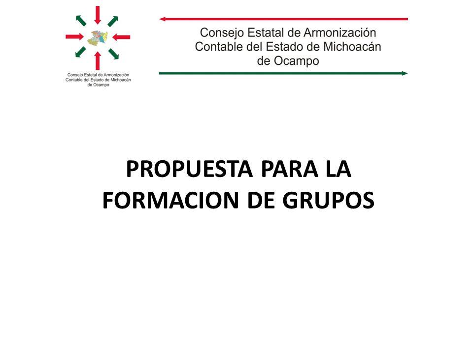 PROPUESTA PARA LA FORMACION DE GRUPOS