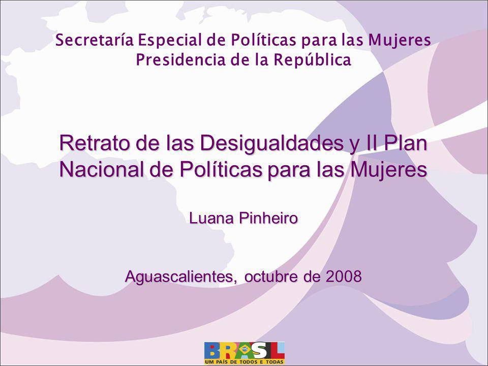 Secretaría Especial de Políticas para las Mujeres Presidencia de la República Retrato de las Desigualdades y II Plan Nacional de Políticas para las Mu