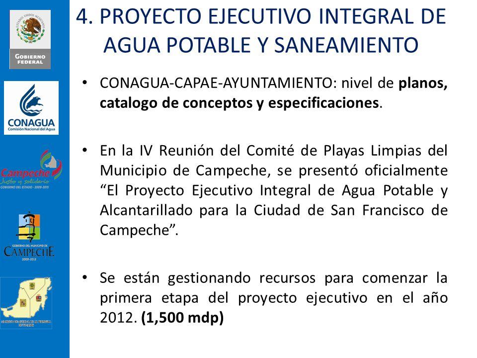 CONAGUA-CAPAE-AYUNTAMIENTO: nivel de planos, catalogo de conceptos y especificaciones. En la IV Reunión del Comité de Playas Limpias del Municipio de