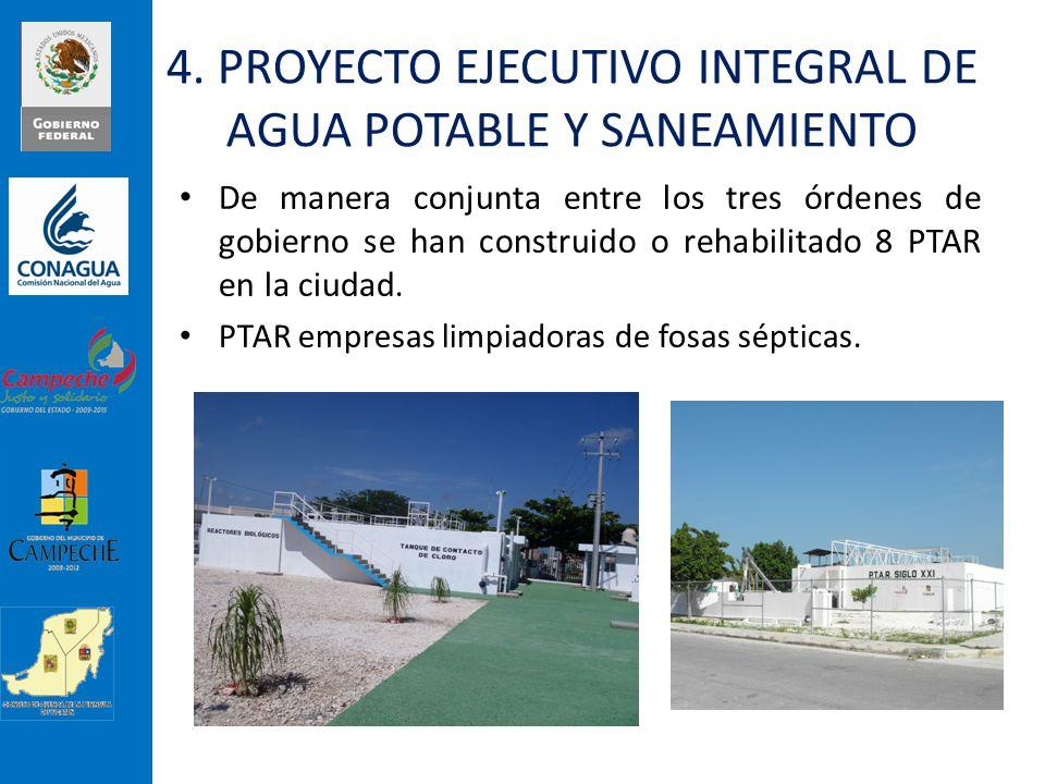 De manera conjunta entre los tres órdenes de gobierno se han construido o rehabilitado 8 PTAR en la ciudad. PTAR empresas limpiadoras de fosas séptica