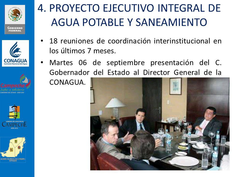 18 reuniones de coordinación interinstitucional en los últimos 7 meses. Martes 06 de septiembre presentación del C. Gobernador del Estado al Director