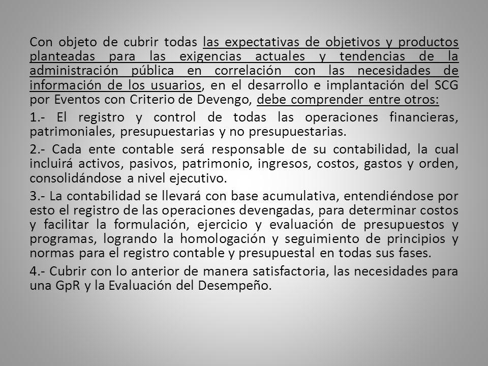 Con objeto de cubrir todas las expectativas de objetivos y productos planteadas para las exigencias actuales y tendencias de la administración pública