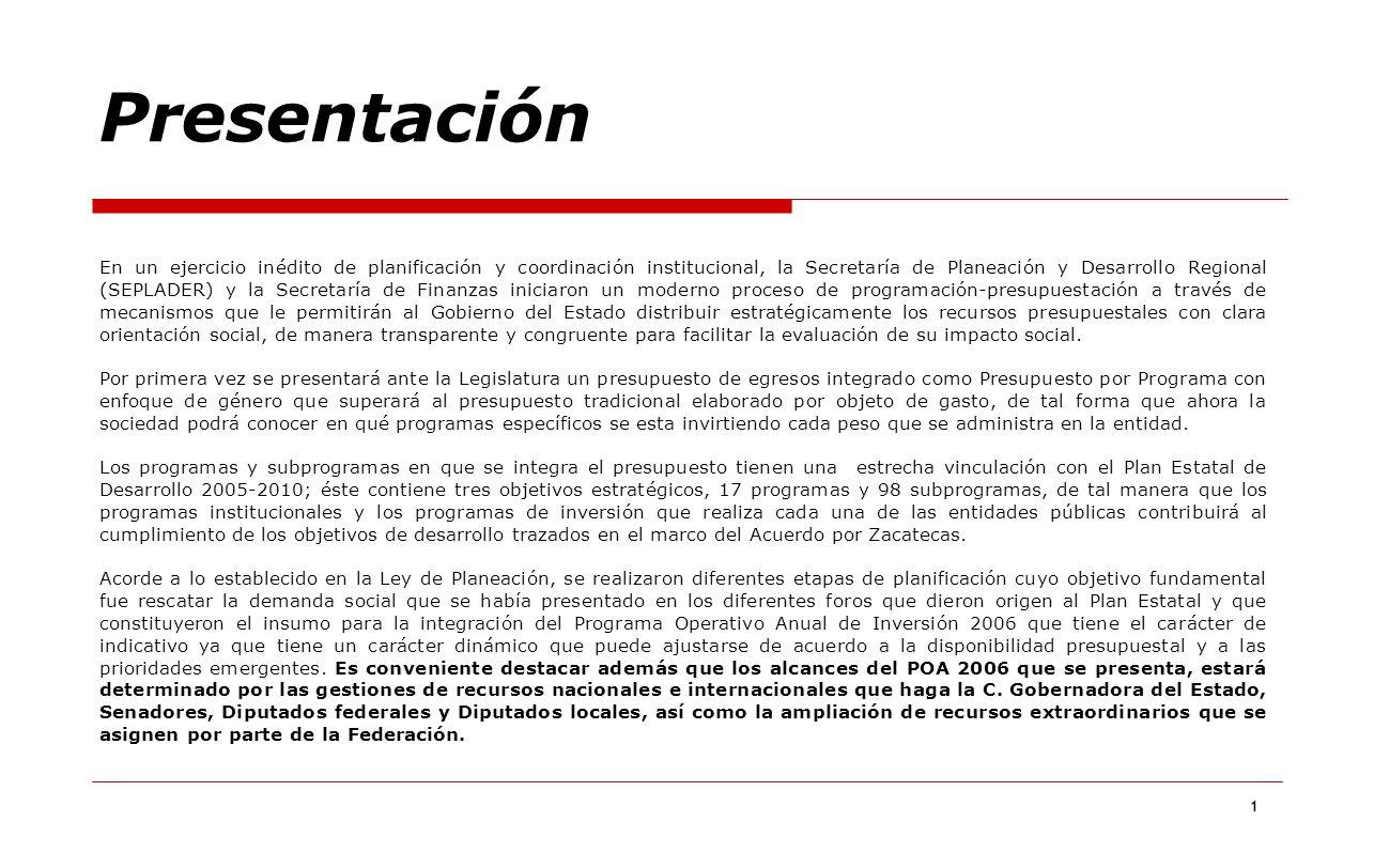 1 Presentación En un ejercicio inédito de planificación y coordinación institucional, la Secretaría de Planeación y Desarrollo Regional (SEPLADER) y l