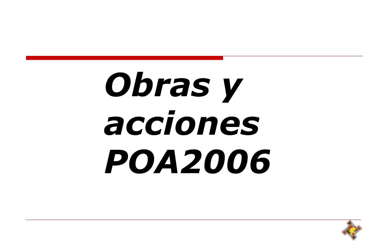 34 Obras y acciones POA2006