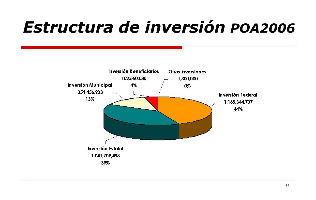 35 Estructura de inversión POA2006