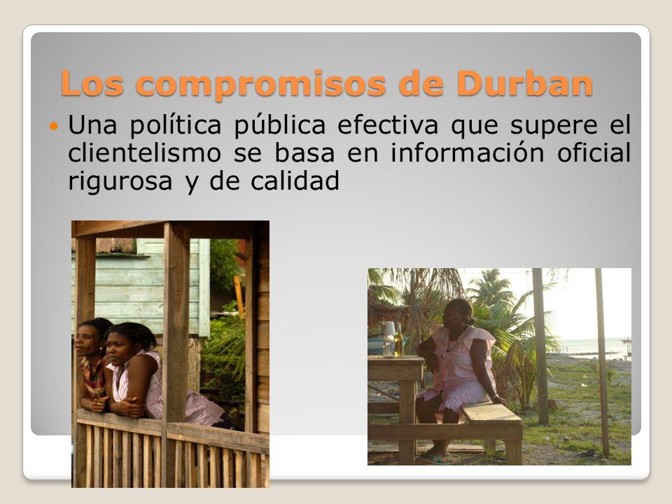 Las estadísticas y las acciones afirmativas La sola identificación de comunidades afrodescendientes pasa por la incorporación de la variable en los censos.