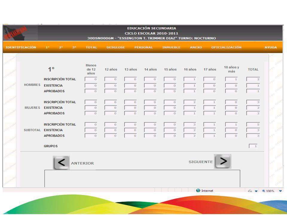 EL TOTAL DE AMBOS DEBE COINCIDIR: INTEGRACION EDUCATIVA 1 3 2 5 0 1 3 5 8