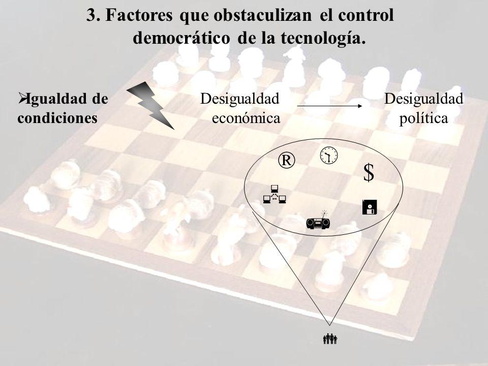 3.Factores que obstaculizan el control democrático de la tecnología.