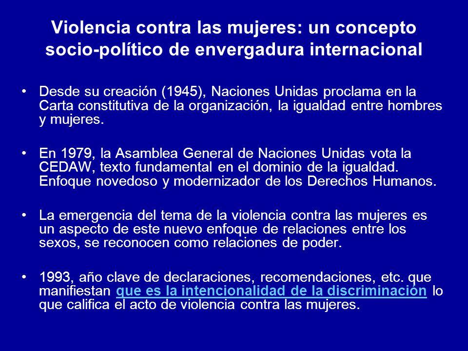 La discriminación y la violencia de género: –Constituyen obstáculos para alcanzar el principio universal de igualdad de derechos y el respeto a la dignidad.