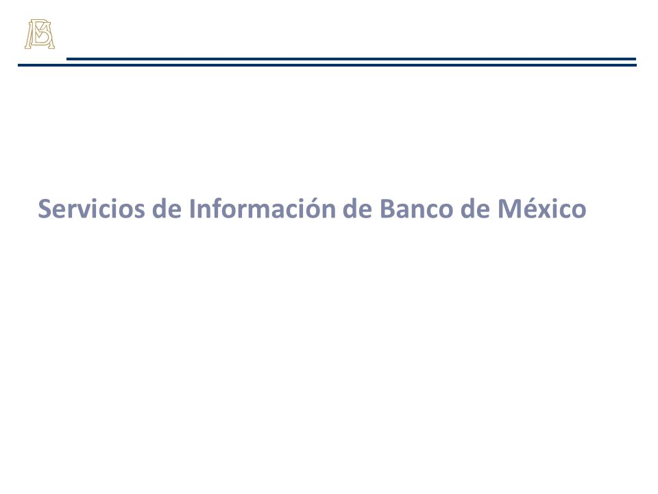 Servicios de Información de Banco de México
