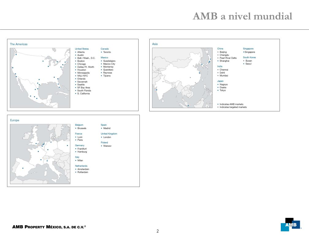 2 AMB a nivel mundial