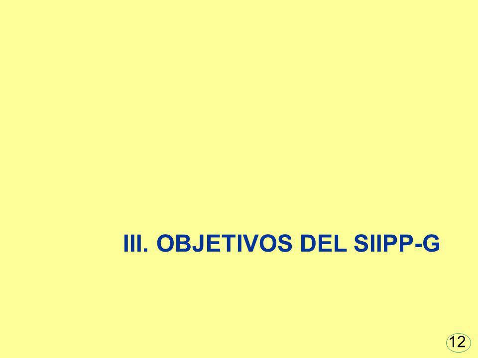 III. OBJETIVOS DEL SIIPP-G 12